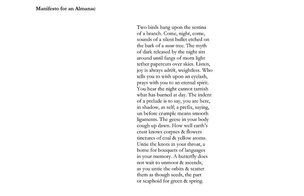 Submramanian Kanta-Manifesto for an Alma