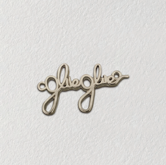 Etiqueta de metal para roupas - etiqueta de metal manuscrita