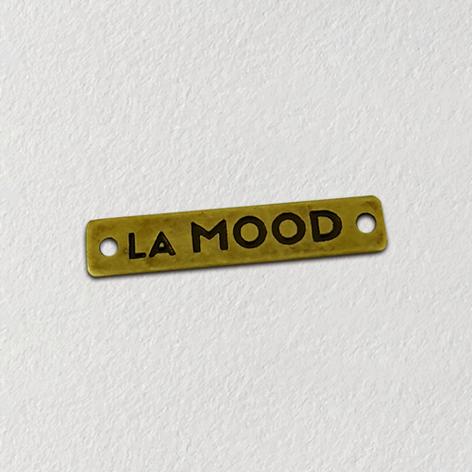 Etiqueta de metal para roupas - etiqueta de metal personalizada
