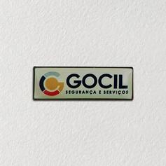 Pin de metal personalizado com etiqueta adesiva abaulada