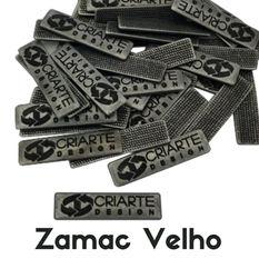 Etiqueta de metal banho zamac velho criarte Design .jpg