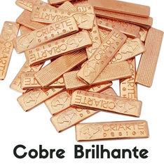 Etiqueta de metal banho cobre brilhante criarte Design .jpg