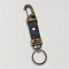 Chaveiro de Metal Personalizado - chaveiro com couro