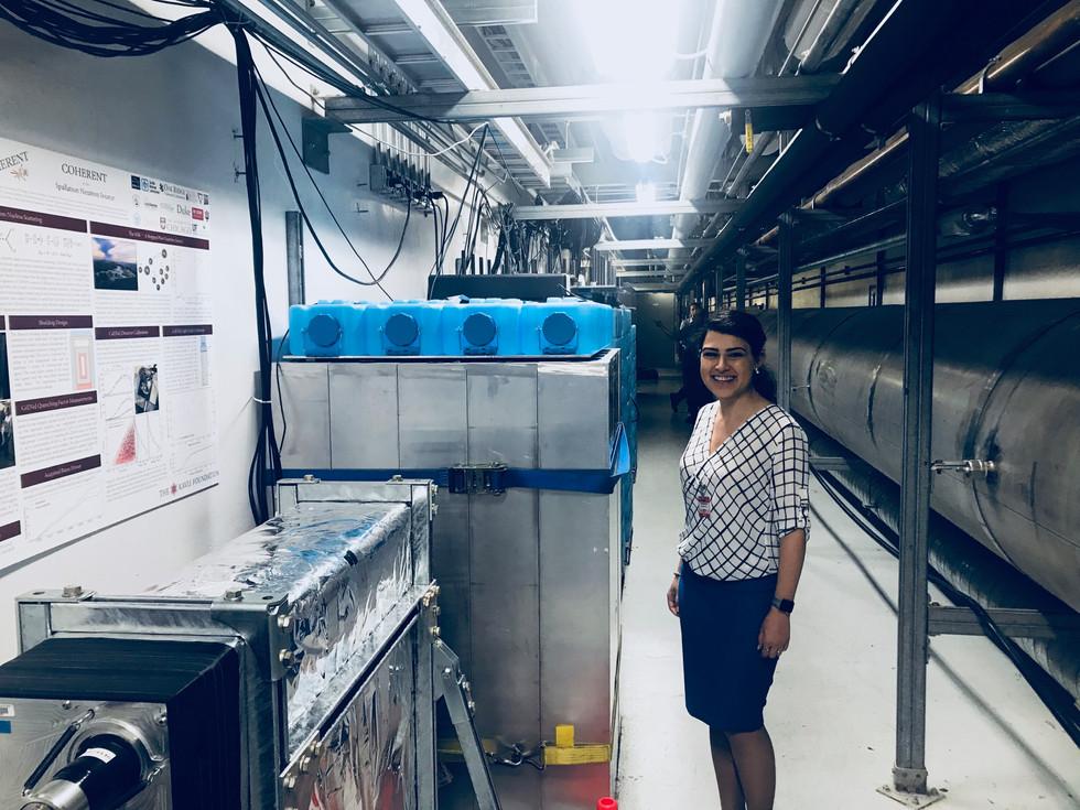 COHERENT experiment (while visiting Oak Ridge National Laboratory for giving seminar)Oak Ridge, USA