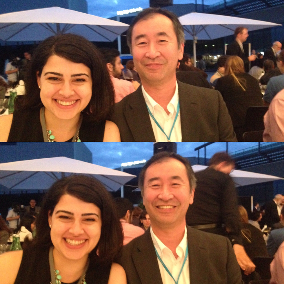 with Takaaki Kajita during the dinner at Lindau Nobel laureate Meeting