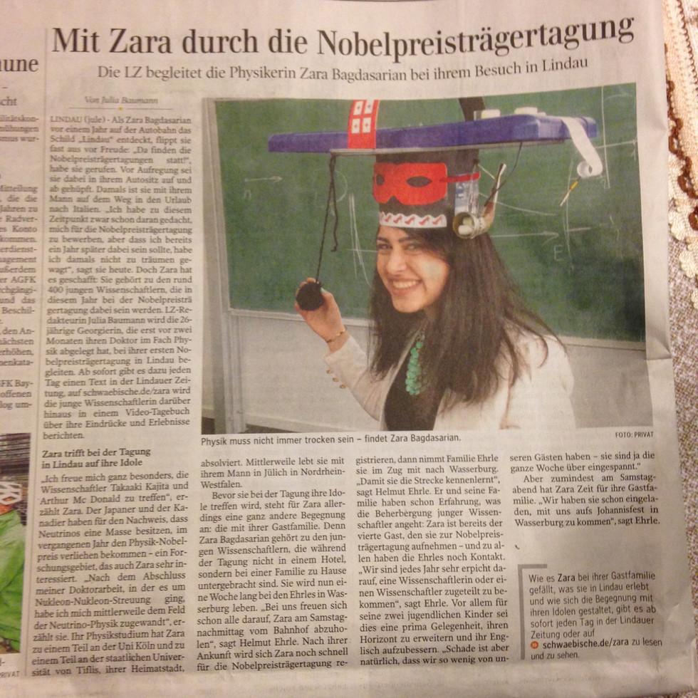 Article in Lindauer Zeitung