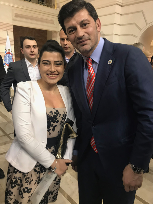 with Tbilisi major Kakha Kaladze at the reception hosted by the Tbilisi City Hall
