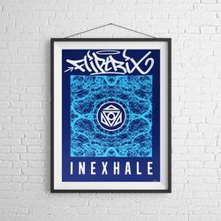 INEXHALE PRINT BLUE 2