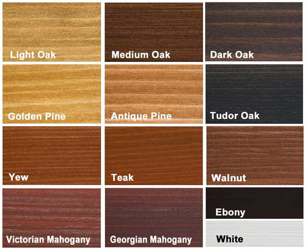 Varnish Stain Colours