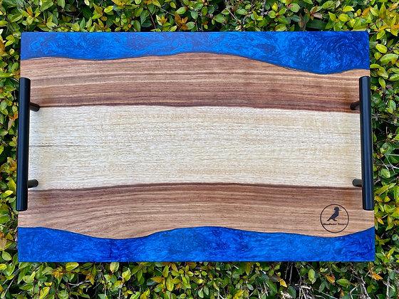 Kiaat Cutting Board (Deep Blue)