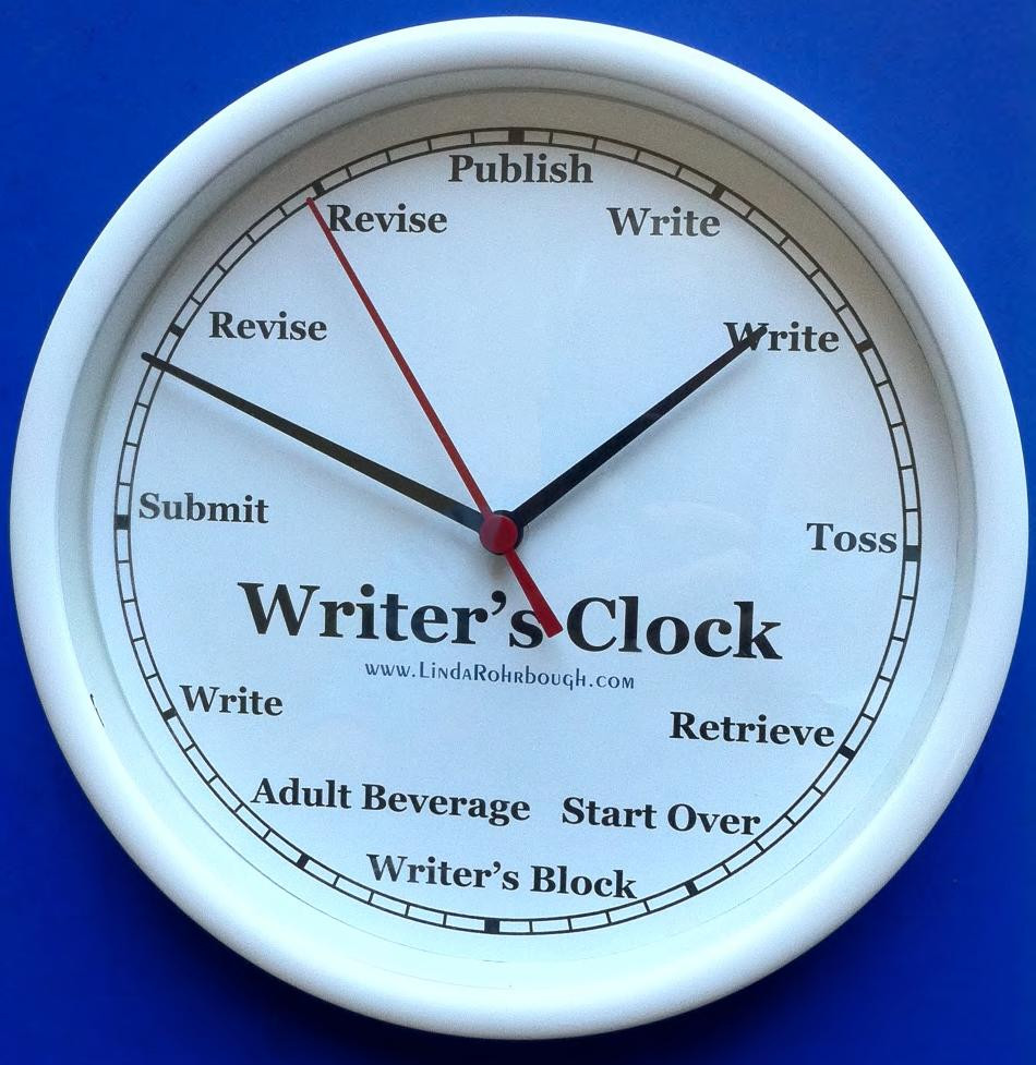 A  photo of a writer's clock