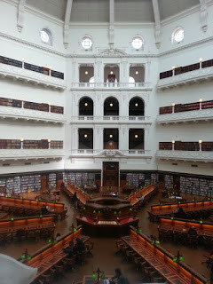 The dome reading room at the State Library of Victoria.