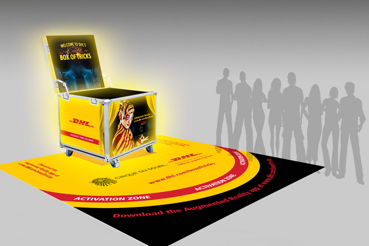 DHL Augmented reality installation