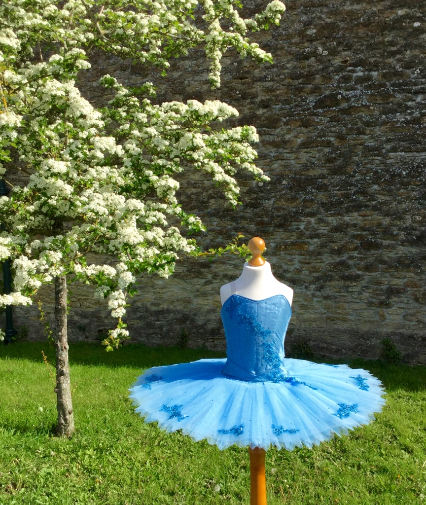 Dusty blue 9 layer silk unboned tutu