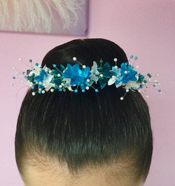 Handmade floral bun ring