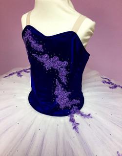 Bodice embellishment on silk