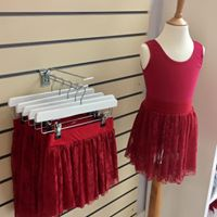 ISTD Plum Lace Stretch Skirts