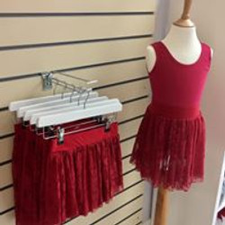 ISTD Plum Lace Stretch Skirts