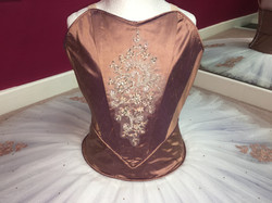 Silk Bodice detail with embelishment