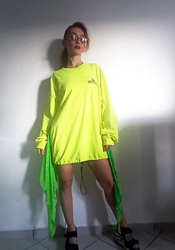 Neon Yellow Shirt-Dress