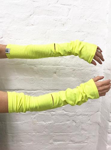 Neon yellow sleeves