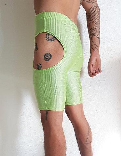 Cut-off leggings green