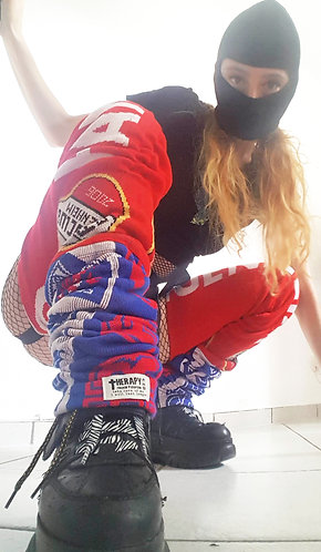 Harness Legs red-blue