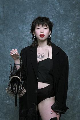 Little black vintage purse