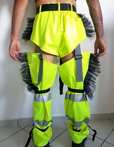 Work pants reworked - neon yellow