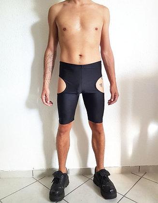 Cut-off leggings black lycra