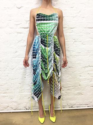 Colour test fabric dress