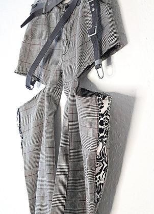 Punk pants plaid and zebra