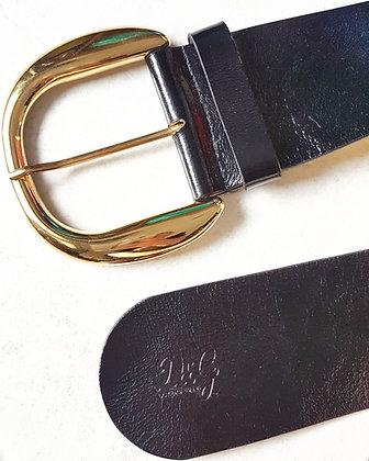 Vintage D&G Black Leather Belt