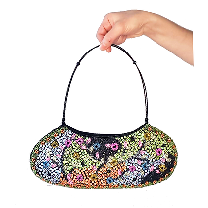 Sequins and beds purse