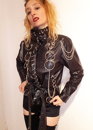 Punk fake-leder jacket