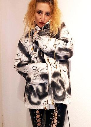 Sprayed white jacket unisex