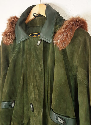 Green Leather Parka
