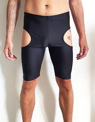Cut-off leggings black