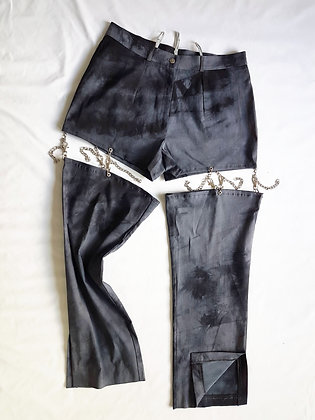 Tie-dye and chains Pant XL