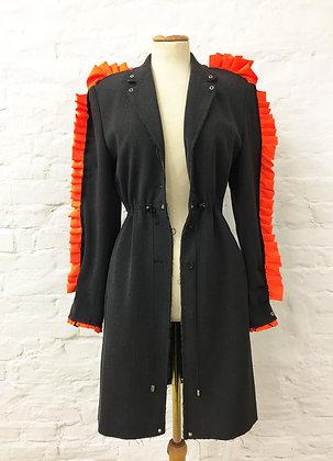 Orange ruffles coat - AWAKE Collection