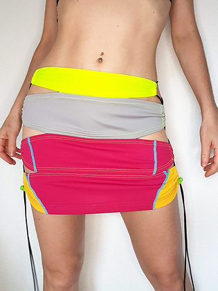 Laced Scraps Mini Skirt