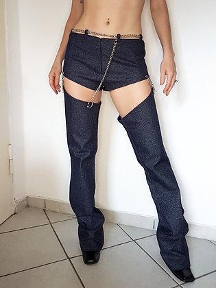 Y2K cut-off leg pants
