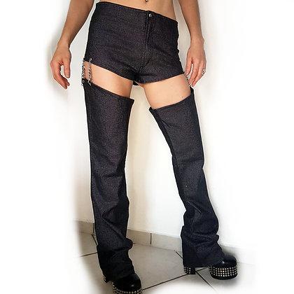Cut Off Legs Pants Glossy