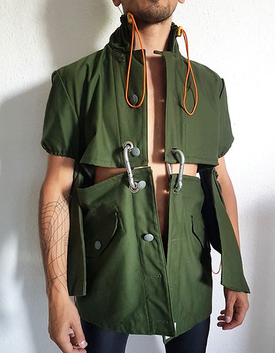 Military vintage jacket upcycled