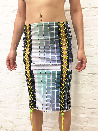 Colour pattern skirt (VIOLET TONES)