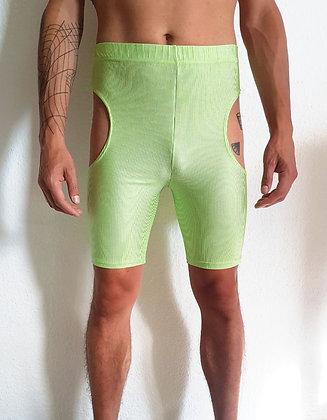 Cut-off leggings neon green