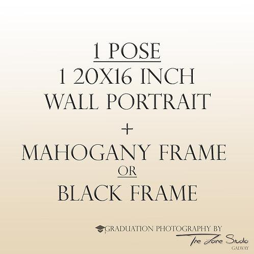 1 pose + 20x16 Wall portrait