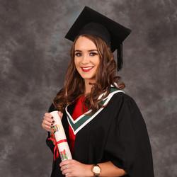 Graduation portrait close up.