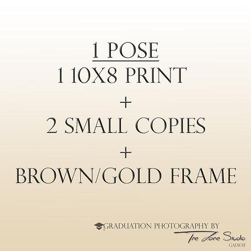 1 pose + Brown & Gold frame
