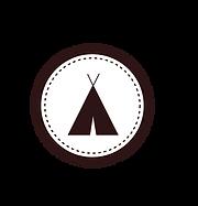 テントのバッジホワイト